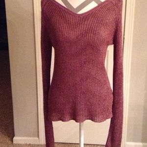 DKNY plum sweater- size Large